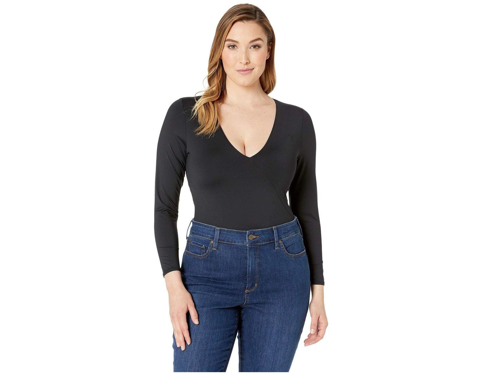 406bbf999 Volcom Plus Size Simply Seamless Bodysuit (black) Women s Swimsuits One  Piece in Black - Lyst