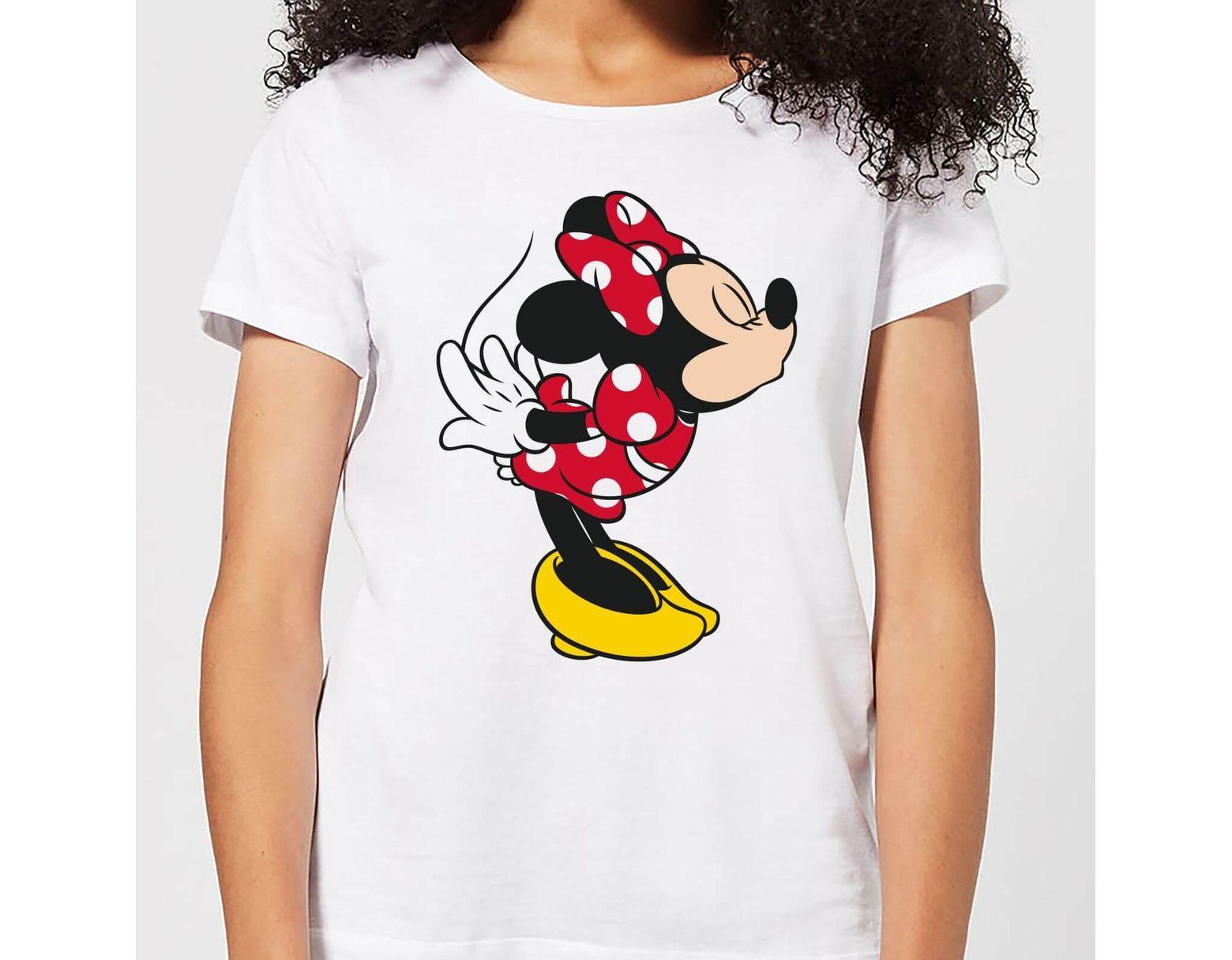 cf7ac939d Disney Mickey Mouse Minnie Split Kiss T-shirt in White - Lyst
