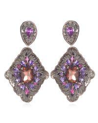Suzanna Dai | Purple Vicenza Large Drop Earrings, Gunmetal/plum | Lyst