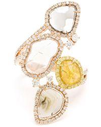 Saqqara - Yellow Diamond 'stepping Stones' Ring - Lyst