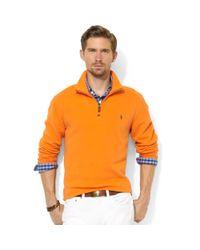 Ralph Lauren - Orange Halfzip Mock Neck Frenchrib Pullover for Men - Lyst