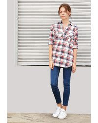 Forever 21 | Natural Tartan Plaid Shirt | Lyst