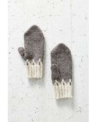 Urban Outfitters - Gray Pointy Arctic Mitten - Lyst