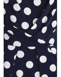 Eliza J   Blue Spotted From A Distance Dress   Lyst