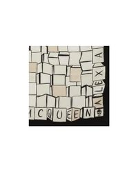 Alexander McQueen - Black Cube Silk Twill Scarf - Lyst