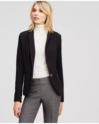Ann Taylor | Black Knit Jacket | Lyst