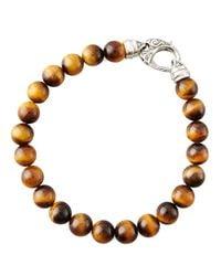 Stephen Webster | Brown Beaded Tiger's Eye Bracelet for Men | Lyst