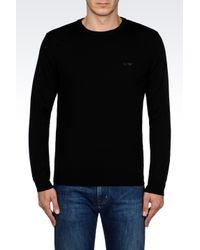 Armani Jeans | Black Jumper In Virgin Wool for Men | Lyst