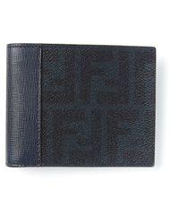Fendi - Blue Monogram Wallet for Men - Lyst