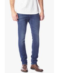 7 For All Mankind - Black Slimmy Luxe Performance Slim-fit Tapered Jeans for Men - Lyst