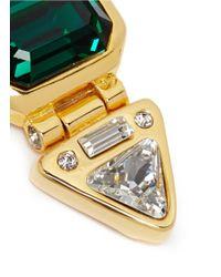 Kenneth Jay Lane | Green Crystal Drop Stone Clip Earrings | Lyst