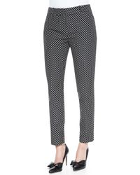 kate spade new york - Black Margaux Cafe Dot Cropped Pants - Lyst