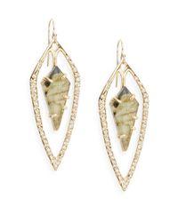 Alexis Bittar | Metallic Miss Havisham Kinetic Labradorite & Crystal Long Orbital Kite Drop Earrings | Lyst