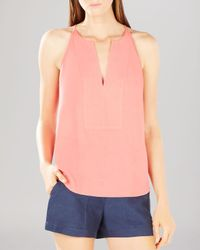 BCBGMAXAZRIA | Pink Top - Mery Stitched Placket | Lyst