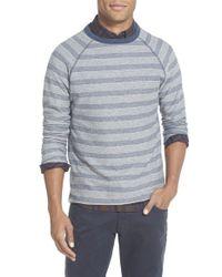 Billy Reid - Gray 'indian' Trim Fit Stripe Crewneck Sweatshirt for Men - Lyst