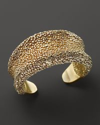 Roberto Coin - Metallic 18k Yellow Gold Plated Sterling Silver Stingray Wide Concave Cuff - Lyst
