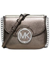 Michael Kors | Metallic Michael Fulton Small Crossbody | Lyst