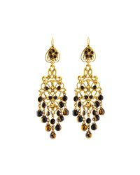 Jose & Maria Barrera | Black Crystal Long Chandelier Drop Earrings | Lyst