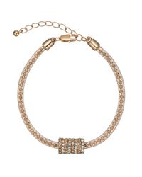 John Lewis | Metallic Ball And Glass Pave Bracelet | Lyst