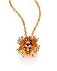 Alexander McQueen | Metallic Skull Chestnut Pendant Necklace | Lyst