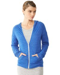 Alternative Apparel - Blue Relay Raglan Eco-jersey Zip Hoodie - Lyst