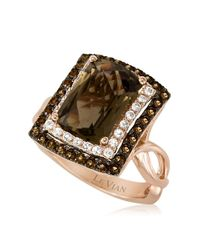Le Vian | Metallic 14kt Rose Gold Quartz And Topaz Ring | Lyst
