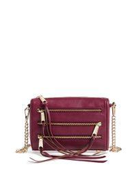 Rebecca Minkoff 'mini 5 Zip' Convertible Crossbody Bag - Purple