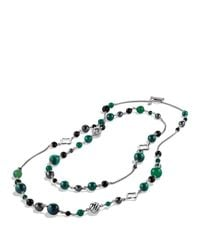 David Yurman | Green Bead Necklace With Black Onyx & Hematine | Lyst