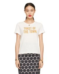 kate spade new york | White Toast Of The Town Tee | Lyst