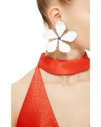 Rosie Assoulin | White Enamel Single Flower Earring | Lyst