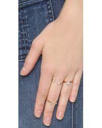 kate spade new york - Metallic Rise & Shine Stackable Rings - Clear - Lyst