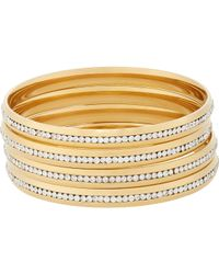 Fallon | Metallic Infinity Channel Bangles | Lyst