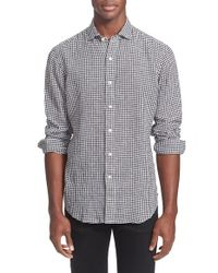 Polo Ralph Lauren | Black Regular Fit Gingham Linen Sport Shirt for Men | Lyst