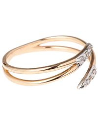 Kismet by Milka - Rose Gold Diamond Lumiere Pinky Ring - Lyst