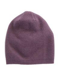 Portolano   Purple Cashmere Hat   Lyst