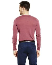 Vince Camuto | Red Wool V-Neck Sweater for Men | Lyst