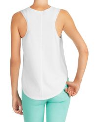 J Brand - White Candice Sweater Tank - Lyst