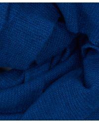 CASH CA - Blue Cashmere Scarf - Lyst