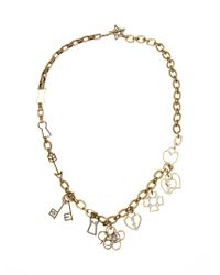 Lanvin   Metallic Key And Heart Pendant Necklace   Lyst