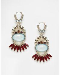 Oasis | Blue Deco Fan Drop Earrings | Lyst