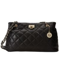 DKNY - Black Quilted Nappa Shopper W Chain - Lyst