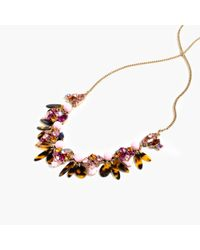 J.Crew | Metallic Mixed Tortoise Necklace | Lyst