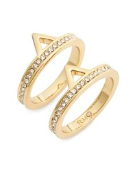 Rebecca Minkoff | Metallic Stackable Rings | Lyst