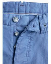Mango - Blue 5-pocket Garment-dyed Cotton Trousers for Men - Lyst