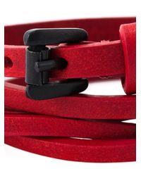 Ann Demeulemeester | Red Multi Straps Bracelet | Lyst
