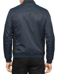 Calvin Klein | Blue Ribbed-trim Lightweight Jacket for Men | Lyst