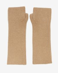 Exclusive For Intermix | Natural Fingerless Cashmere Gloves | Lyst
