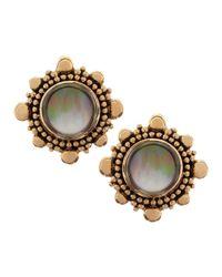 Stephen Dweck | Brown Rock Crystal & Mother-Of-Pearl Clip Earrings | Lyst