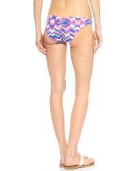 Zinke - Purple Emmi Reversible Bikini Bottoms - Cobalt Chevron Print/orchid - Lyst