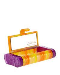 Edie Parker - Purple Lara Acrylic Backlit Ice Clutch Bag - Lyst